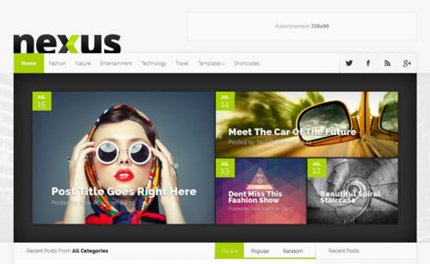 Nexus Responsive Magazine WordPress Theme