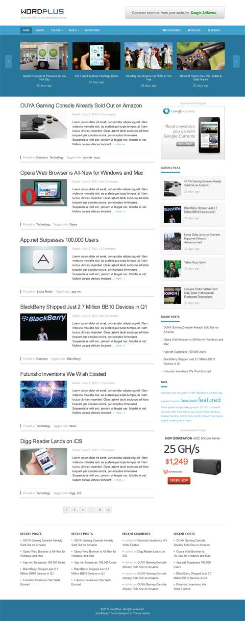 New Premium WordPress Themes July 2013