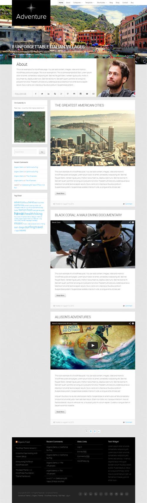Adventure Travel WordPress Theme