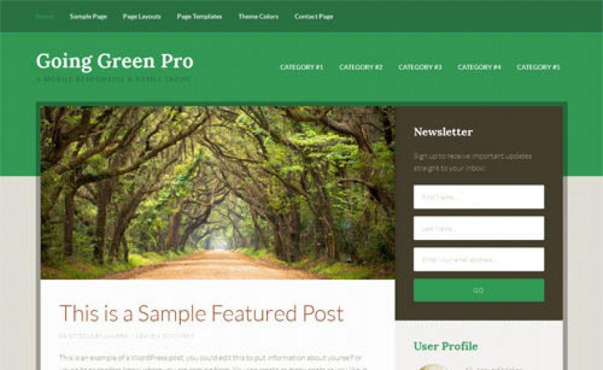 Going Green Pro Responsive WordPress Theme