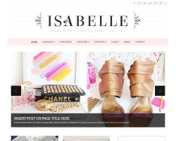 Chic & Feminine WordPress Theme: Isabelle