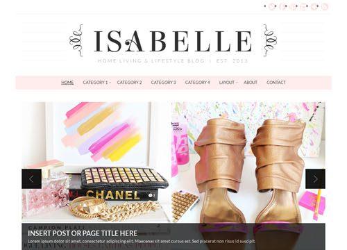 Chic & Feminine WordPress Theme: Isabelle