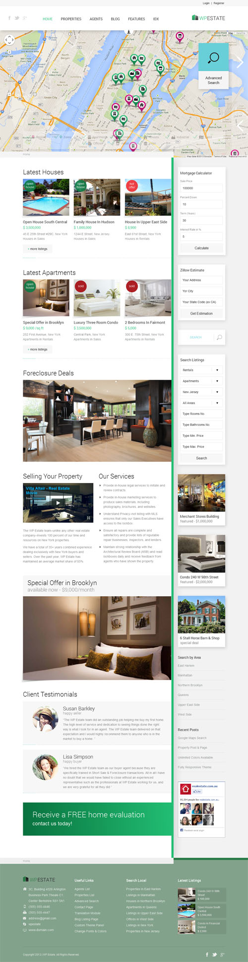 40 best real estate wordpress themes 2017 wp estate