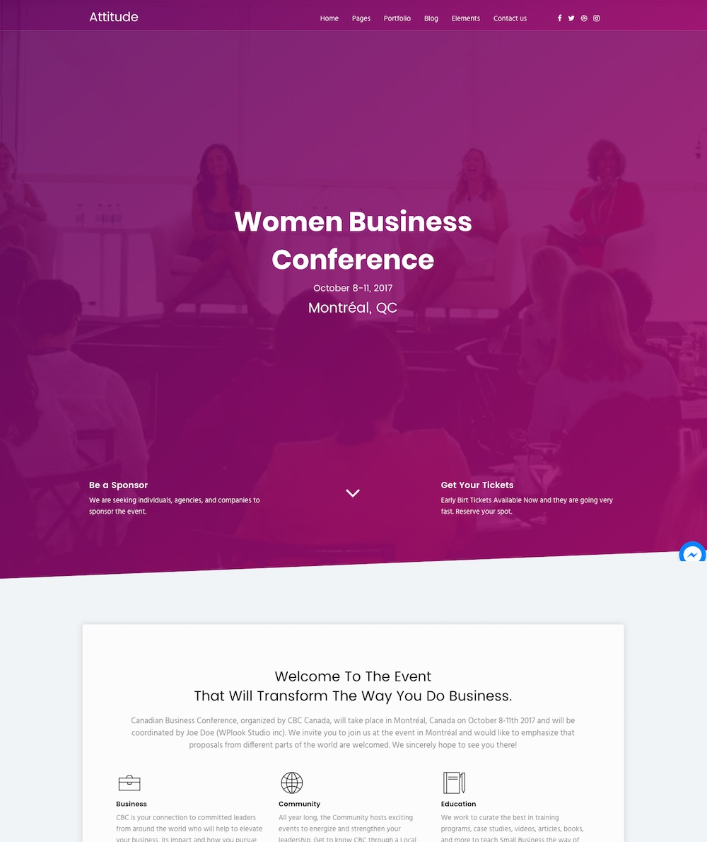 20 Best Conference Event Wordpress Themes 2019