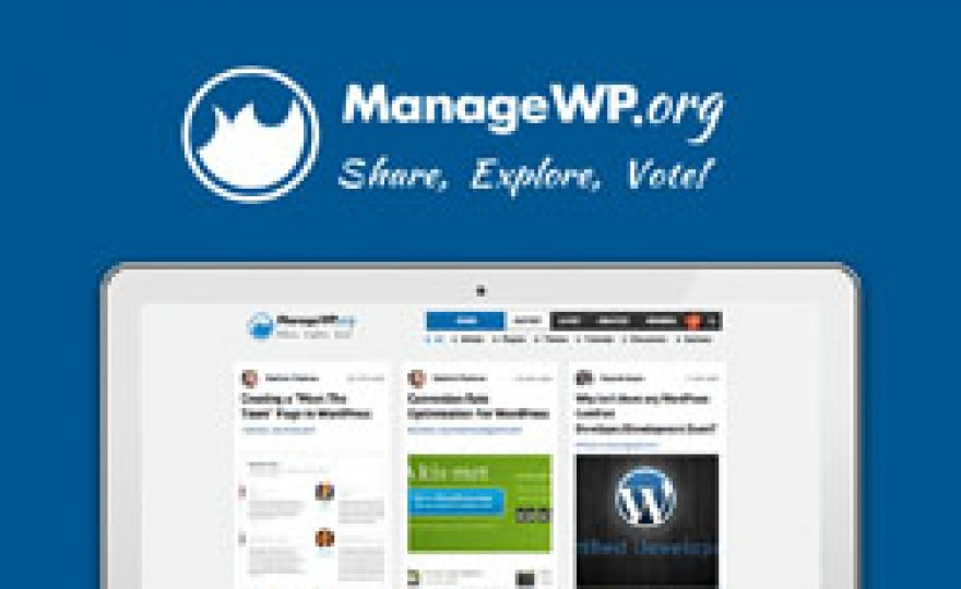ManageWP Launches Community Powered WordPress News Aggregation Site