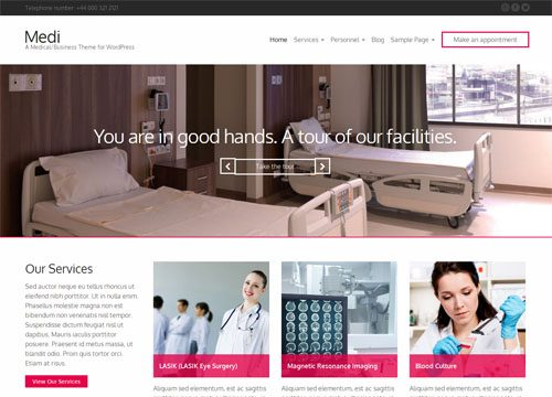 Medical Business WordPress Theme: Medi