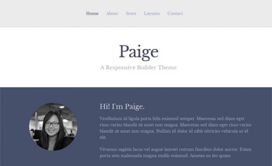 iThemes Builder Child Theme: Paige