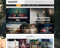 Valenti – A Retina Ready and Mobile Responsive Review Magazine WordPress Theme