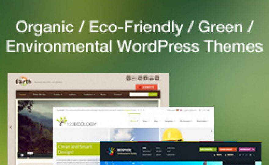 Eco, Nature, Organic & Environmental WordPress Themes