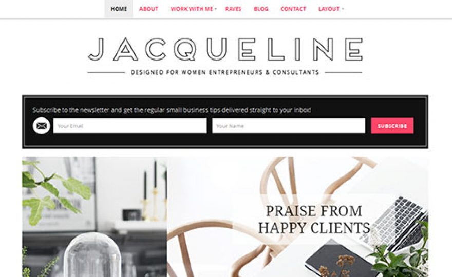 Responsive WordPress Business Theme for Women – Jacqueline