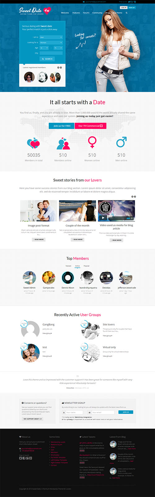 theme dating wordpress Sweet date: a wordpress dating theme with a responsive design, facebook login integration, and woocommerce support it is also buddypress and bbpress.