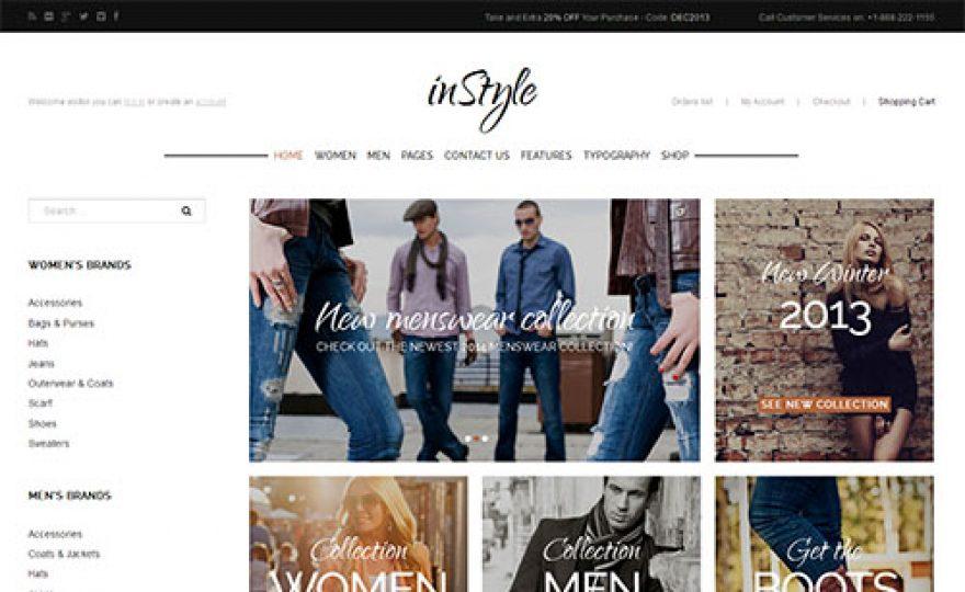 Instyle Responsive Ecommerce WordPress Theme