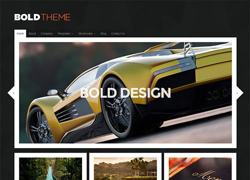 Bold – Modern and Responsive WordPress Theme