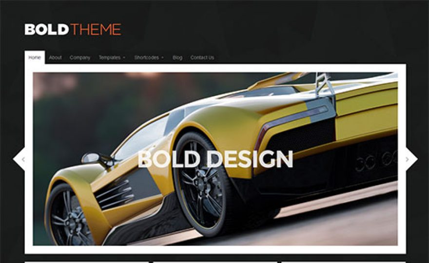 Bold – Modern and Responsive WordPress Theme