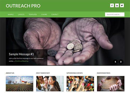 Outreach Pro WordPress Theme for Churches