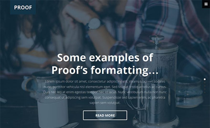 Proof Premium WordPress Theme