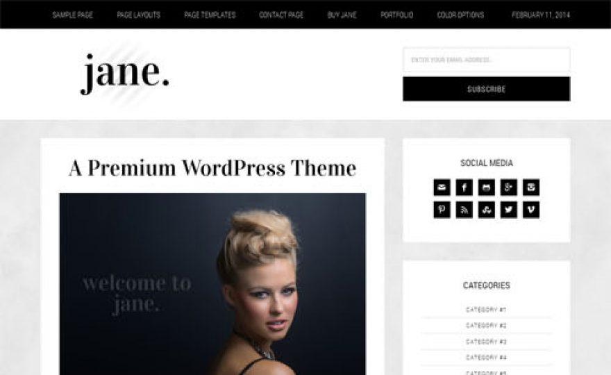 Jane – Responsive Blog WordPress Theme