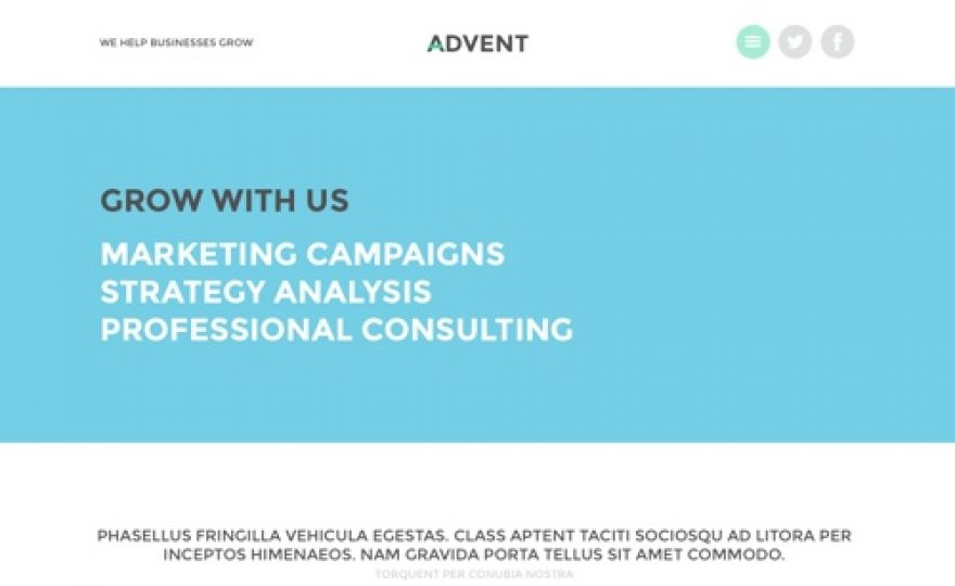 Advent Business Portfolio WordPress Theme