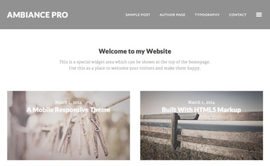 Ambience Pro WordPress Child Theme for the Genesis Framework
