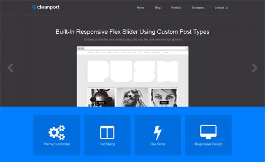 Clean Port Portfolio Business WordPress Theme