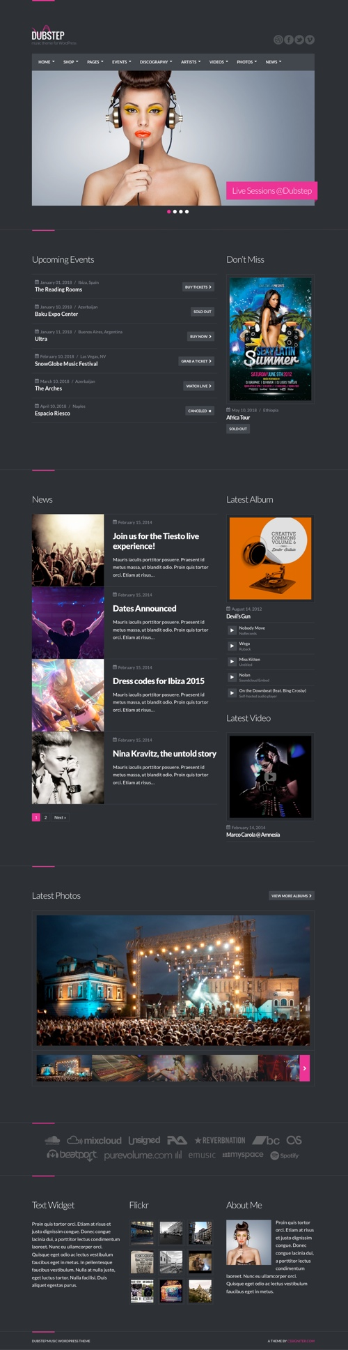 60+ Best Music WordPress Themes 2018