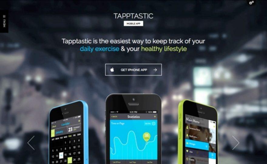 WordPress Theme for Mobile Apps: Tapptastic