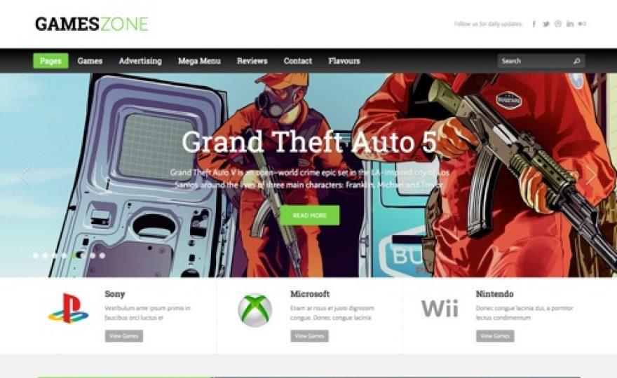 Games Zone Responsive WordPress Theme