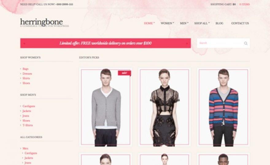 Ecommerce WordPress Theme: Herringbone