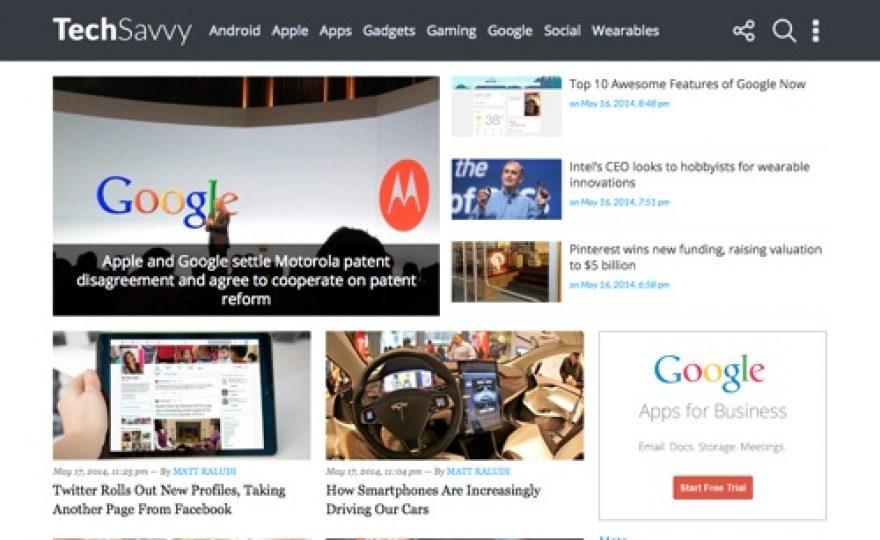Tech Savvy Responsove WordPress Blog Theme