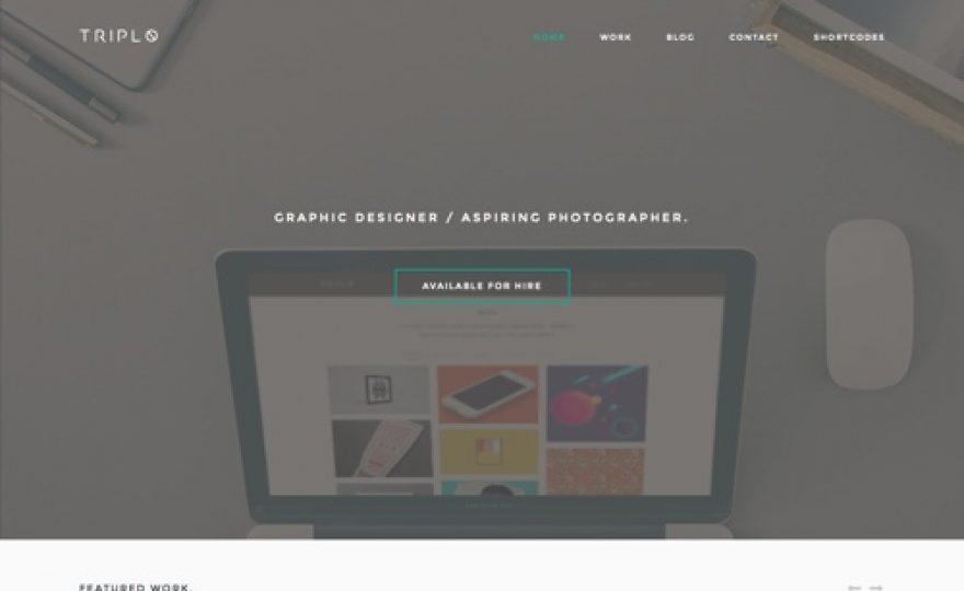 Triplo: Creative Responsive WordPress Theme
