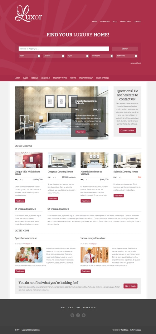 40+ Best Real Estate WordPress Themes 2018