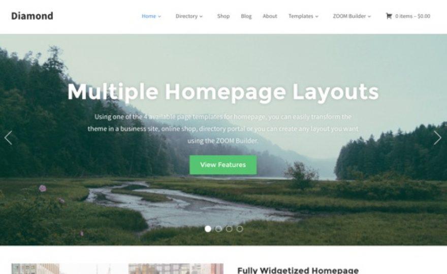 Diamond – A Multi-Purpose Ecommerce and Directory WordPress Theme