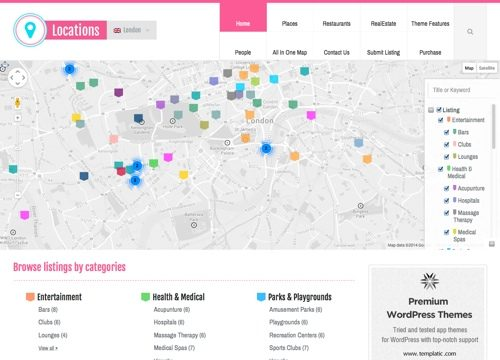 Locations Directory WordPress Theme