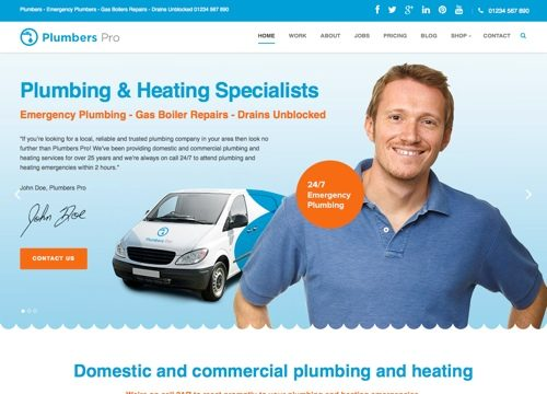 Small Business WordPress Theme for Plumbers and Trades People