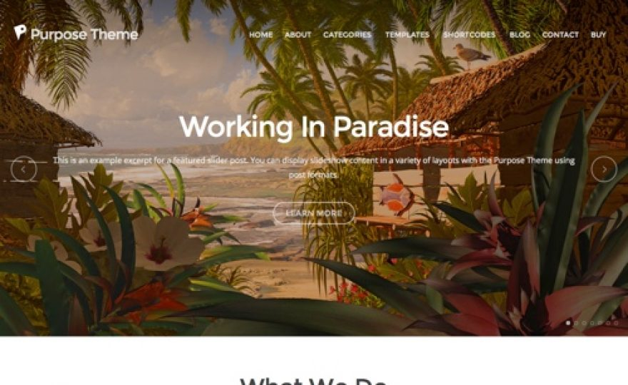 Purpose – A Modern Business WordPress Theme