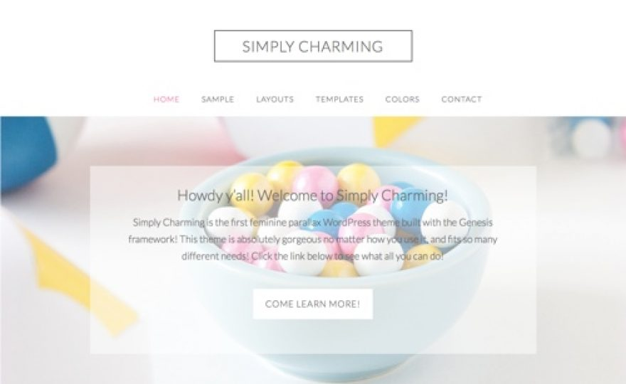 Simply Charming Feminine WordPress Theme