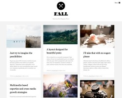 Fall: A Beautiful Blogging WordPress Theme