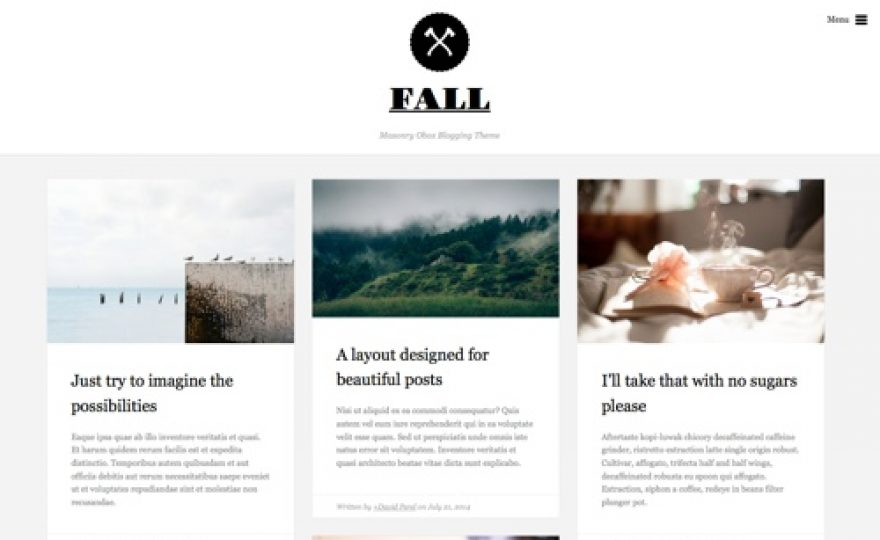 Fall: A Beautiful Blogging WordPress Theme