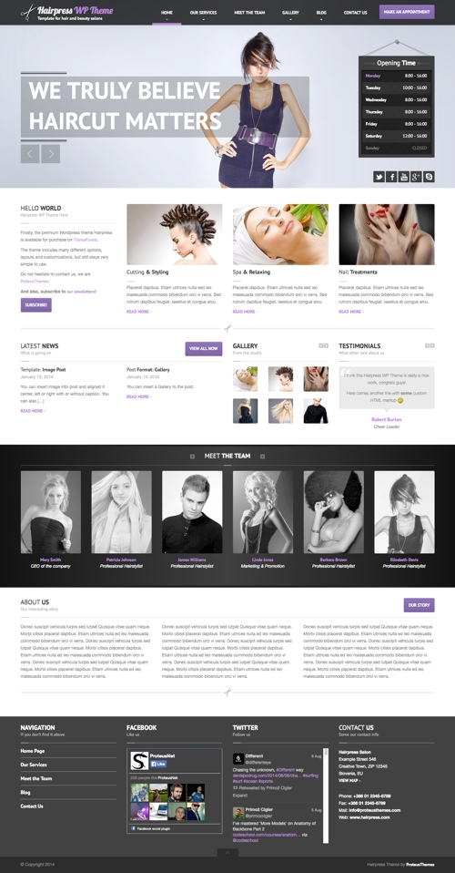 30 Best Spa Beauty Hair Salon WordPress Themes 2018