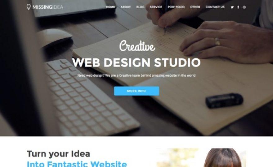 Missing Idea Company WordPress Theme