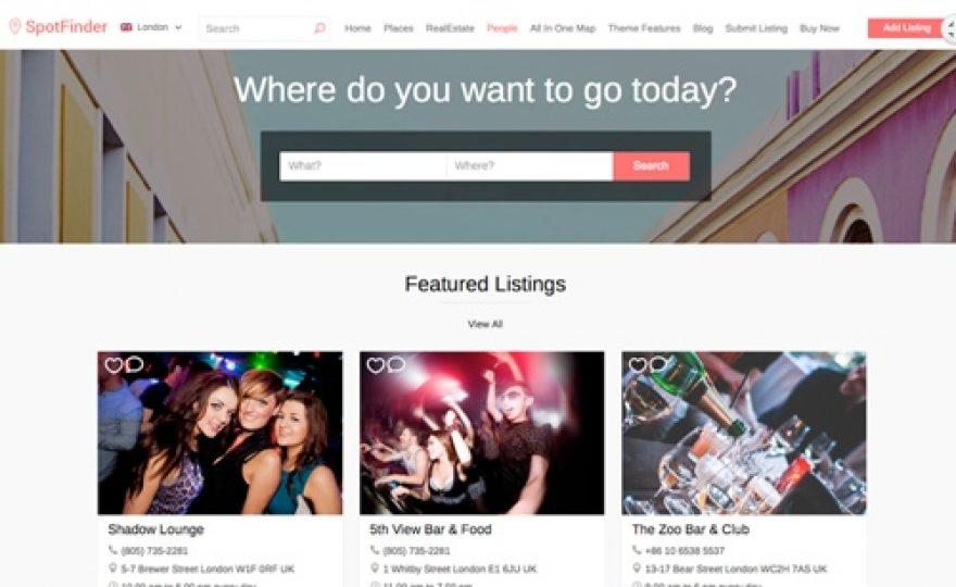 Spot Finder Directory WordPress Theme