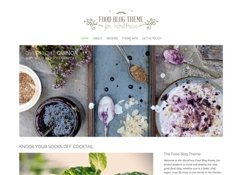 Food Blog WordPress Theme for Foodies