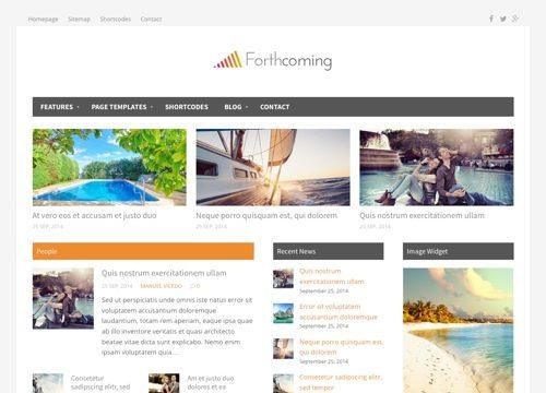 Forthcoming WordPress Theme
