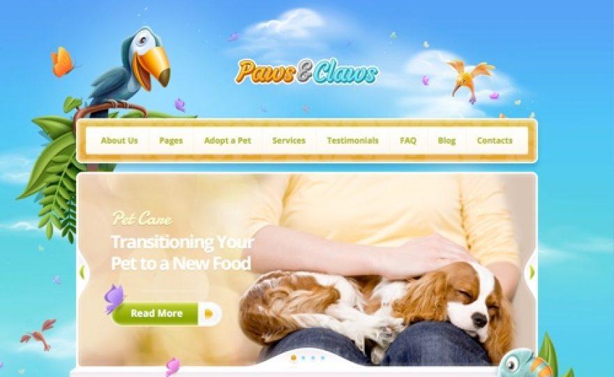Paws & Claws: Pet WordPress Theme
