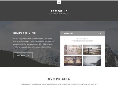 Remobile Pro WordPress Theme