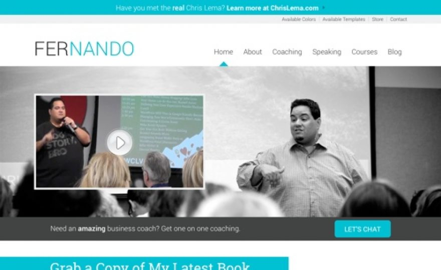 WordPress Theme for Authors and Speakers