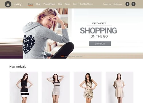 Luxury: Ecommerce WordPress Theme