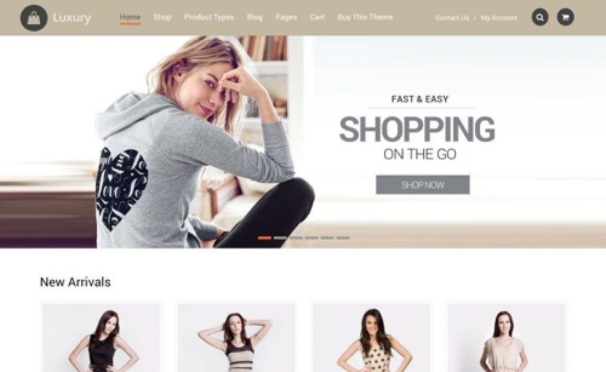 Luxury: Ecommerce WordPress Theme