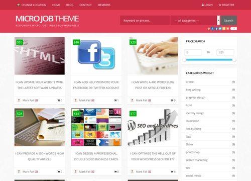 Micro Jobs Marketplace WordPress Theme