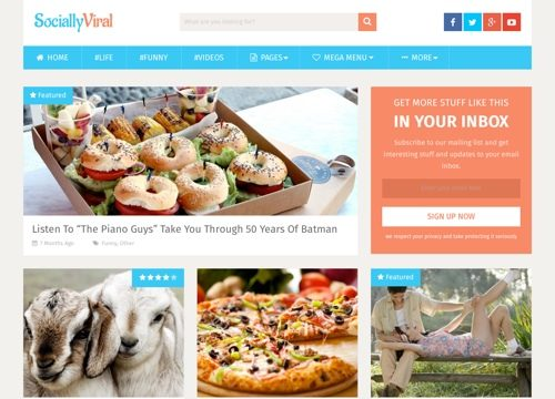 Socially Viral WordPress Theme